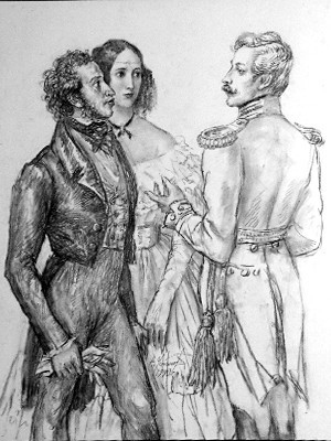 Пушкин и Дантес - причина конфликта